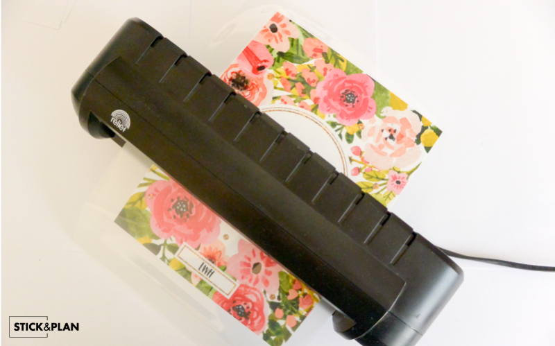 laminate your DIY Erin Condren cover with a laminating machine and pouch