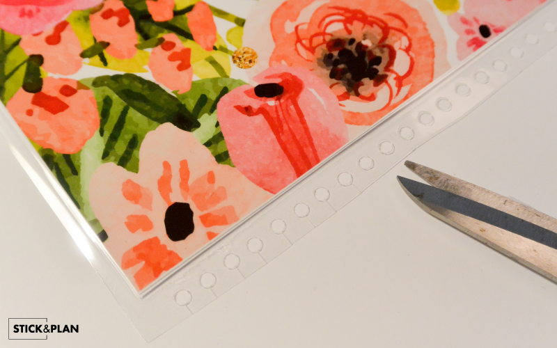 Make cuts and snap your new Erin Condren Cover in place