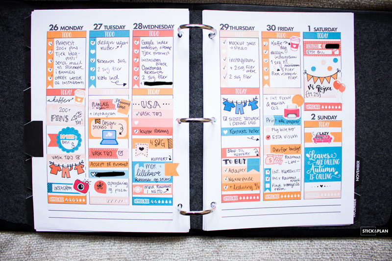 How to make your own planner