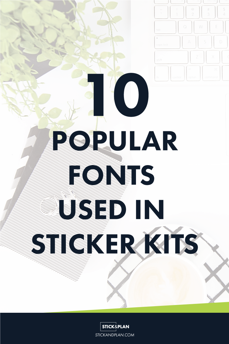 Ever wanted to know what fonts the big sticker shops are using? this is for you!
